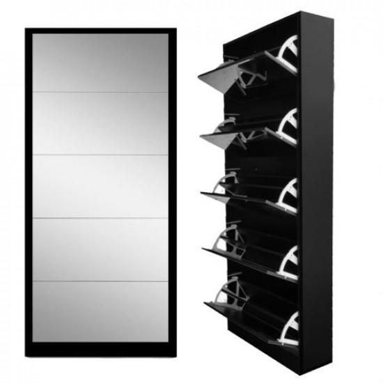 5 Door Mirror Shoe Cabinet Includes Delivery