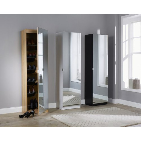 Full Mirror Shoe Cabinet Includes Delivery