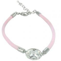 Pink Swarovski Inspired Crystal Bracelet