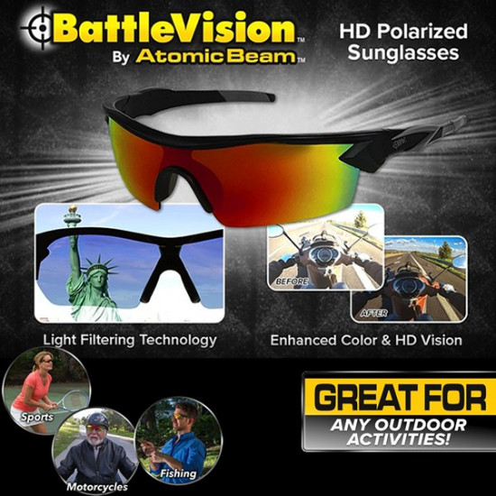 Atomic Beam Battle Vision Glasses, Includes Delivery