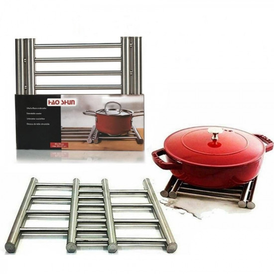 Extendable Stainless Steel Coaster, Includes Delivery