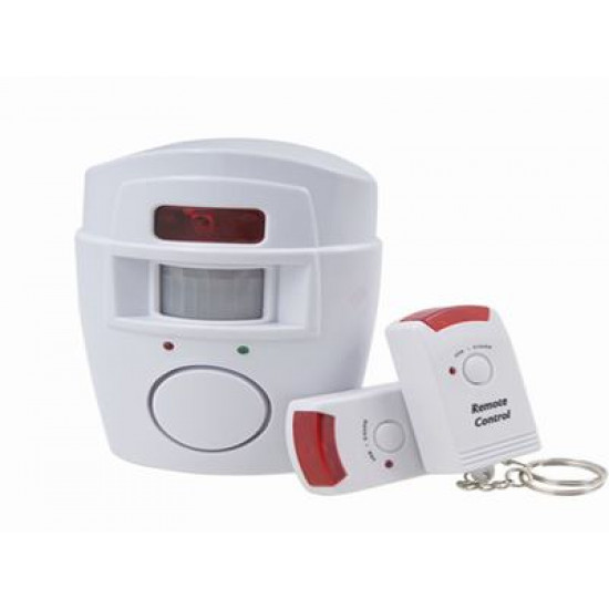 Home Security Kit: Infrared Motion Sensor Alarm With Remote, Includes Delivery