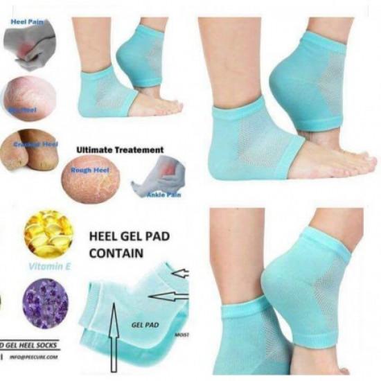 One Pair Of Gel Heel Socks Heel Moisturizer, Includes Delivery