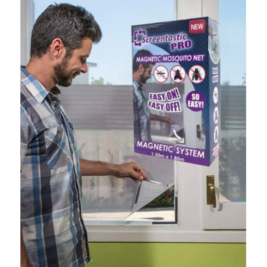 Screentastic Pro Magnetic Mosquito Net, Includes Delivery