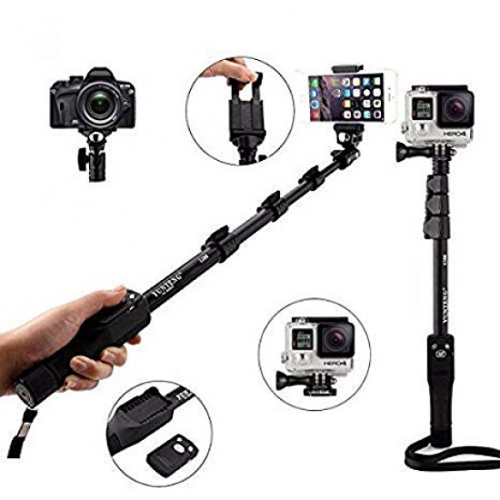 Selfie Stick Monopod With Remote Shutter, Includes Delivery