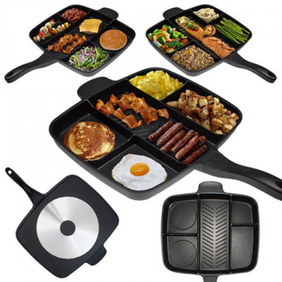 The Non-Stick Magic Pan With Divisions, Includes Delivery